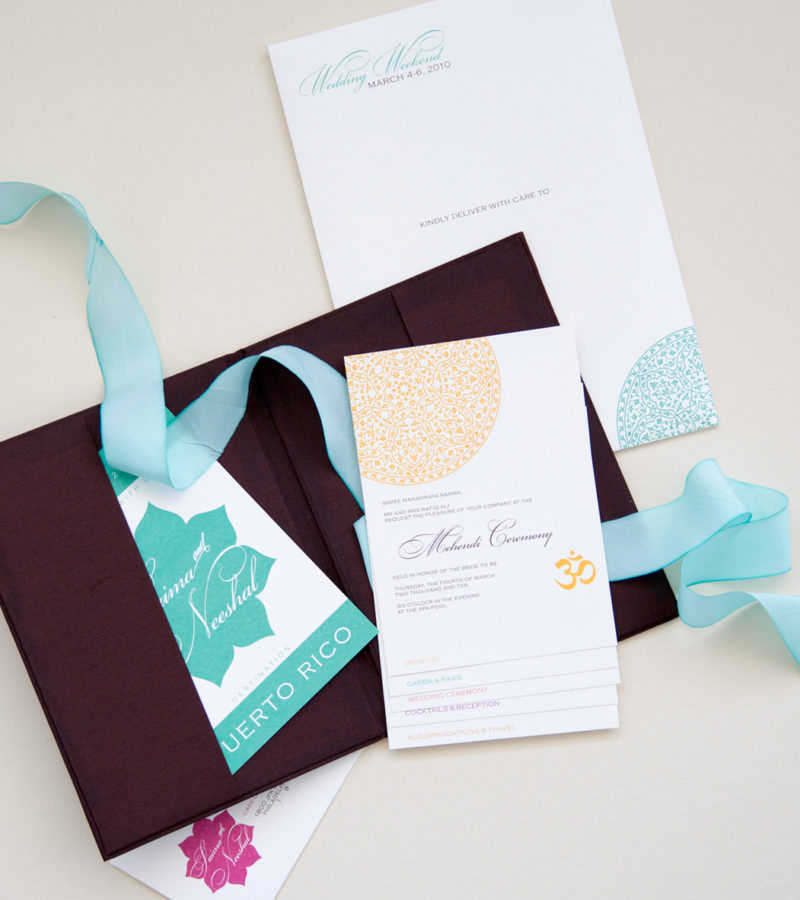 aqua silk save the date