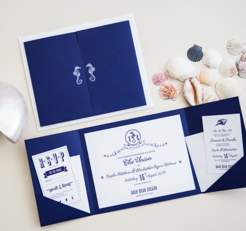 Sea Side Themed Invitation