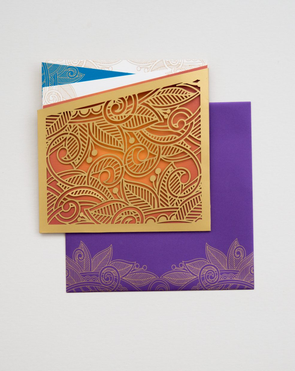 modern elephant invitation with gold foil and laser cut | AZURE