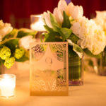 gold art deco table numbers