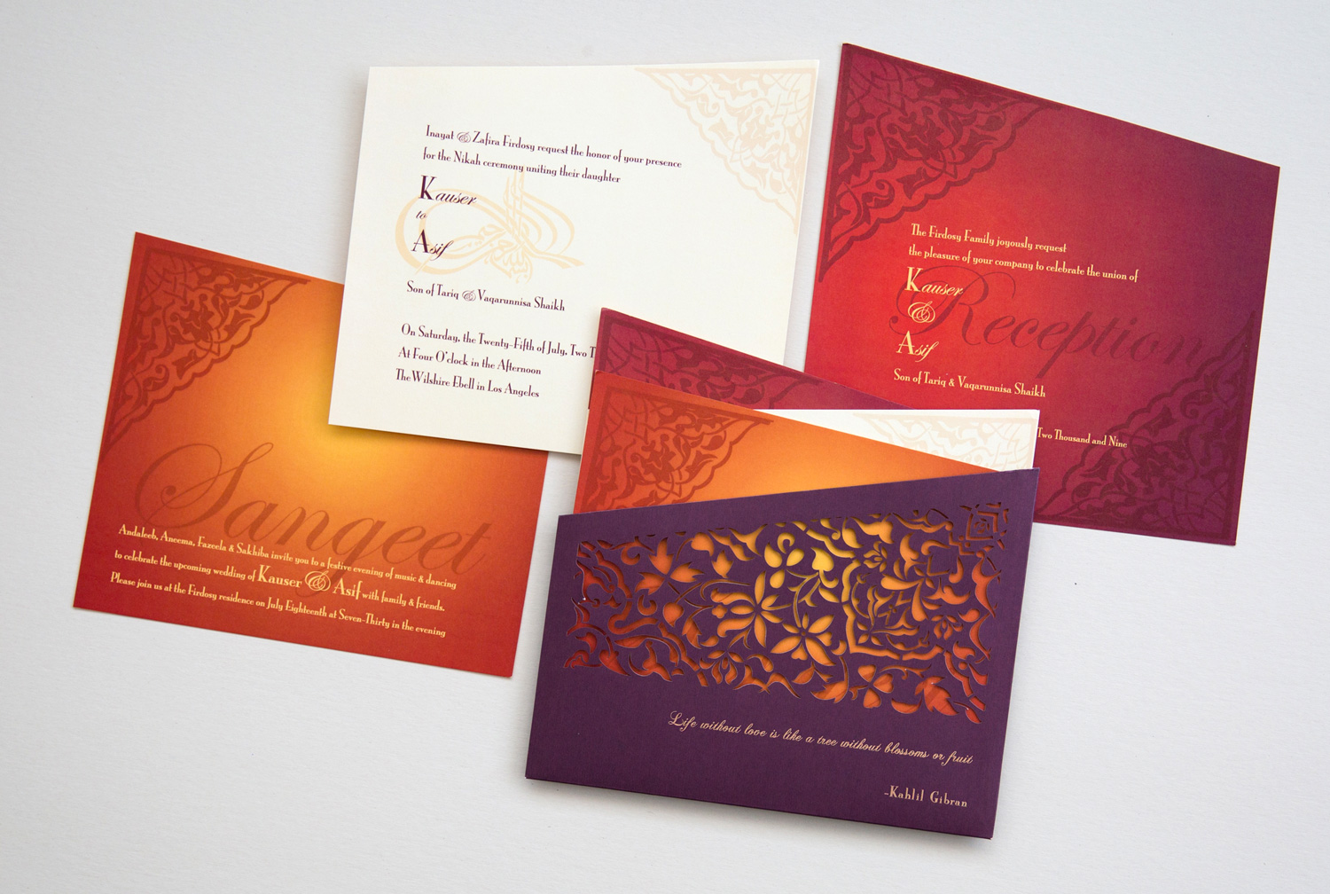 multiple-insert-invitation-sunset-colors-purple-laser-cut-pocket