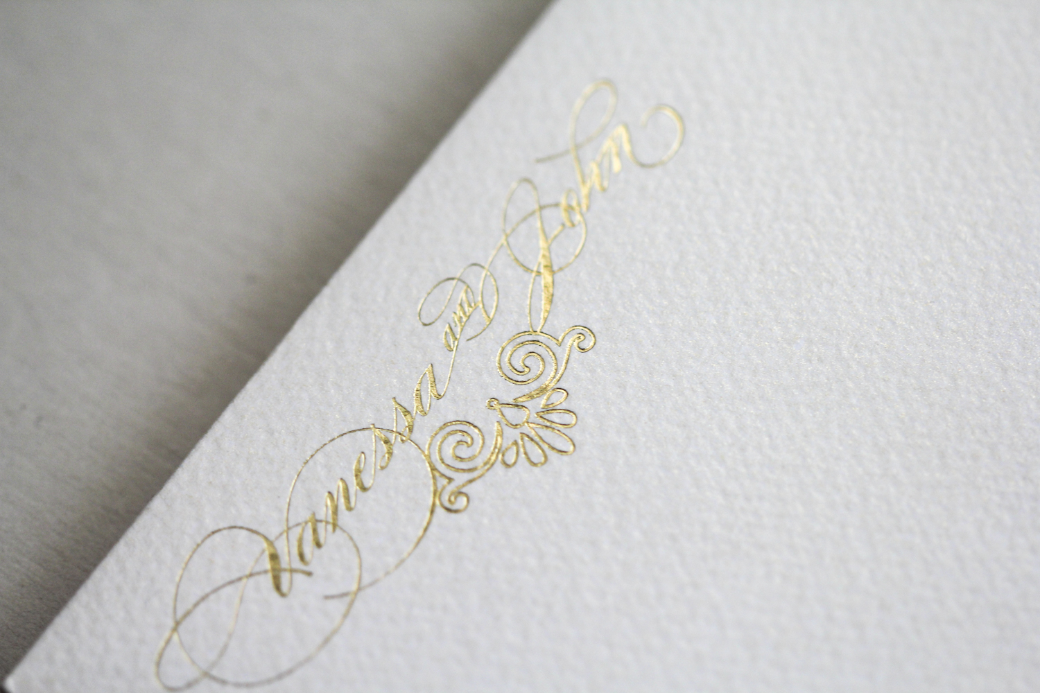 gold foil and navy on cream shimmer | AZURE