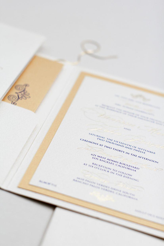 gold foil and navy on cream shimmer | AZURE