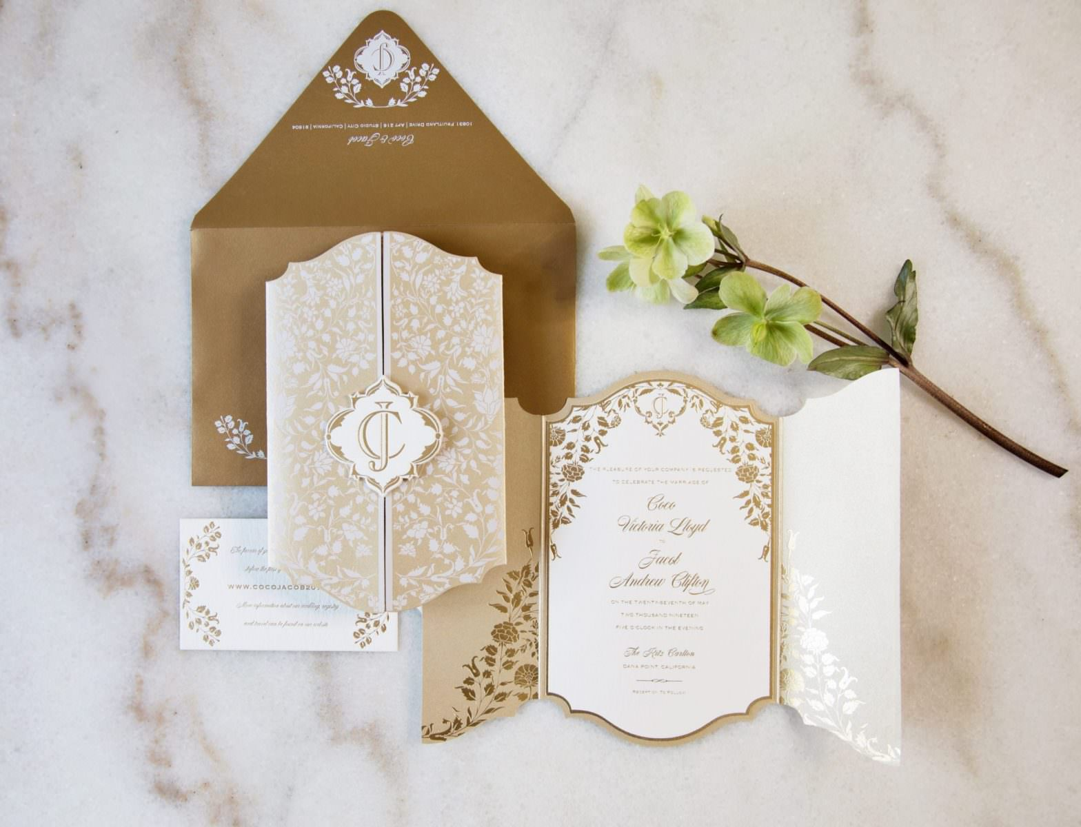 Wedding Invitation For Wedding At The Ritz-Carlton
