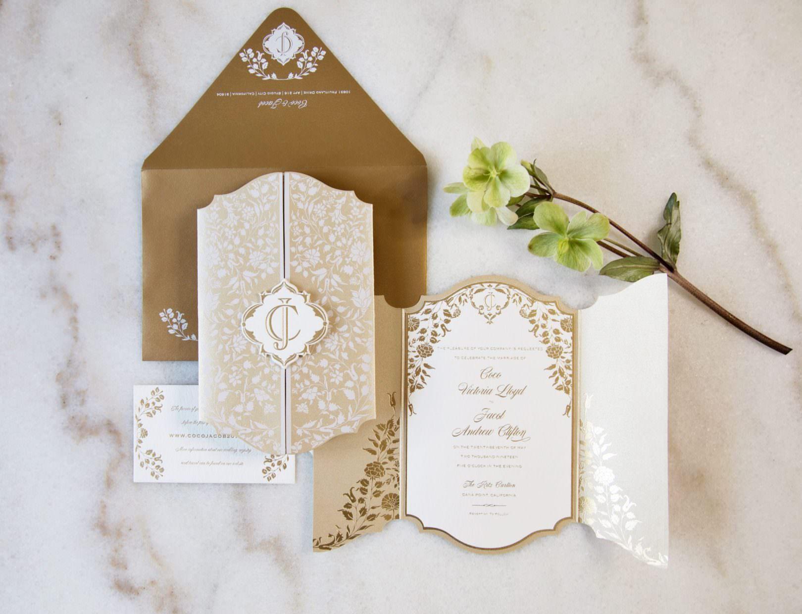 Wedding Invitation For Wedding At The Ritz-Carlton