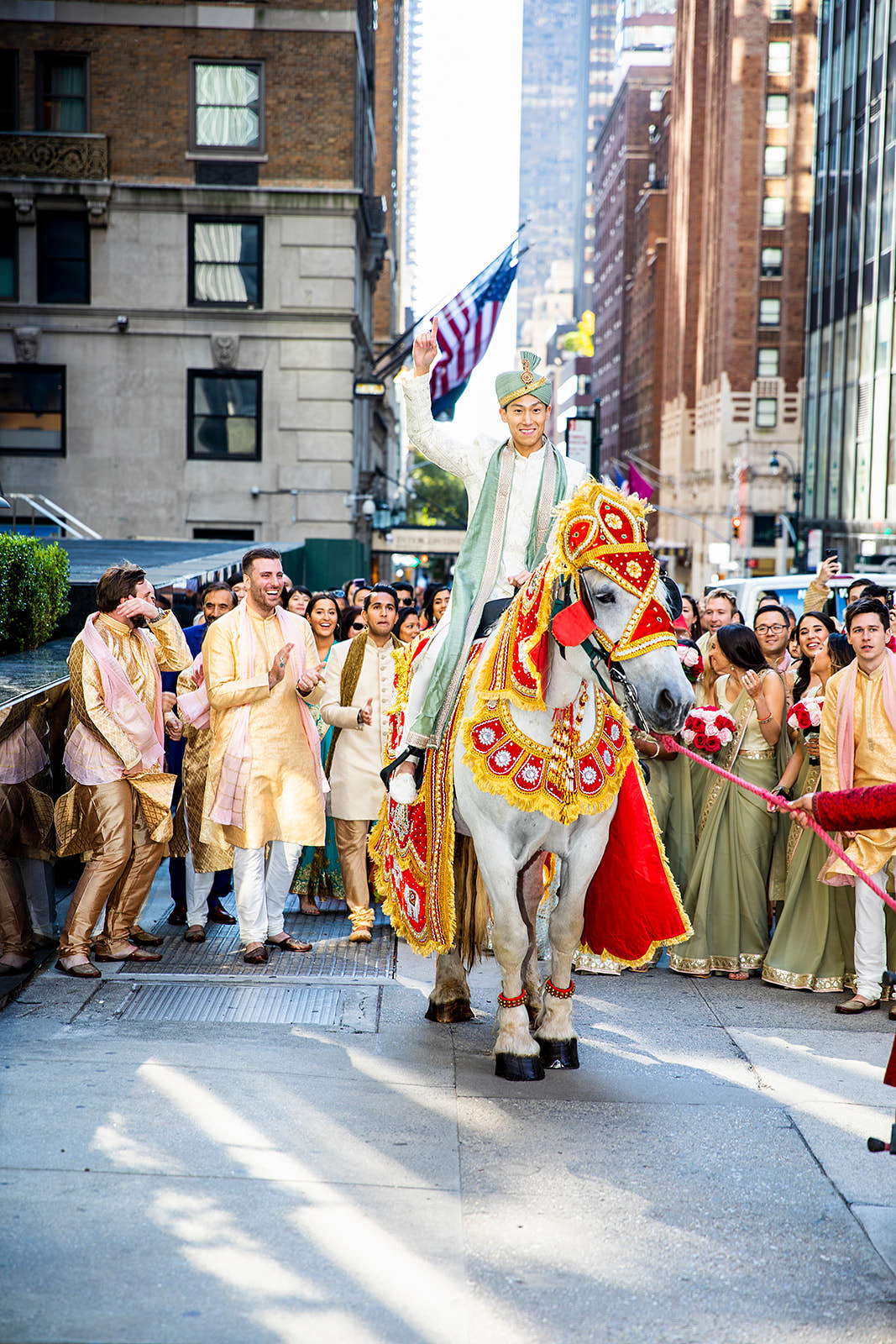 Baraat in NYC Indian Korean Multicultural wedding
