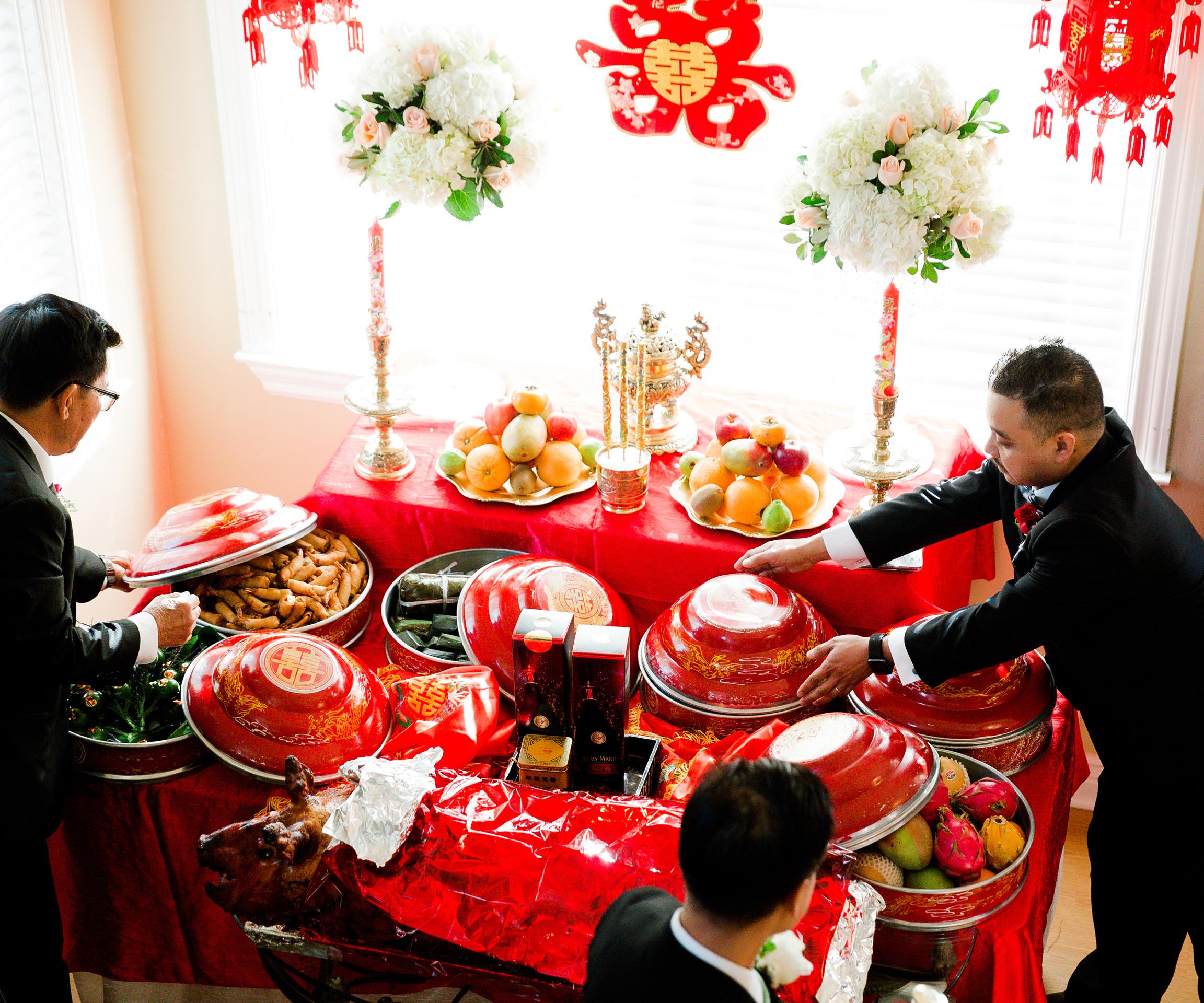 Vietnamese-Wedding Tea Ceremony Food