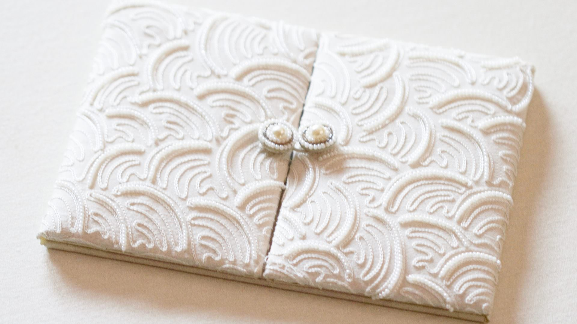 pearl luxury wedding invitation